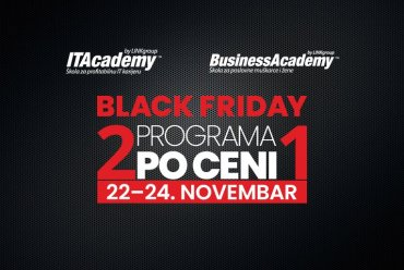 Velika Black Friday akcija na ITAcademy i BusinessAcademy: 2 programa po ceni 1