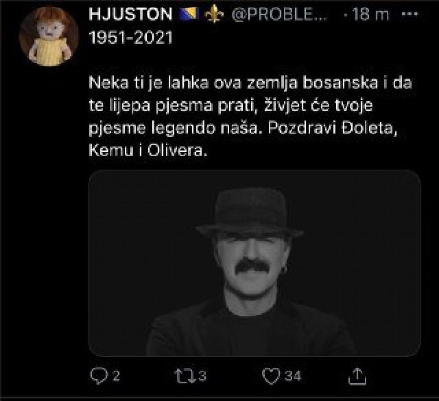 Republika / (FOTO) Bosanci sahranili Harisa Džinovića: Nek ti je laka  zemlja, pozdravi Đoleta, Kemu i Olivera! A sada je ISPLIVALA PRAVA ISTINA!