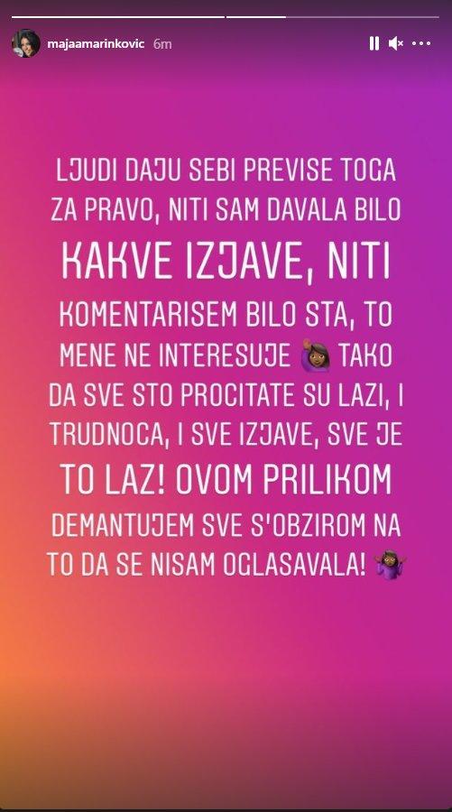 (FOTO) PROGOVORILA O TRUDNOĆI: Maja Marinković se prvi put oglasila i otkrila ISTINU o Janjuševoj BEBI!